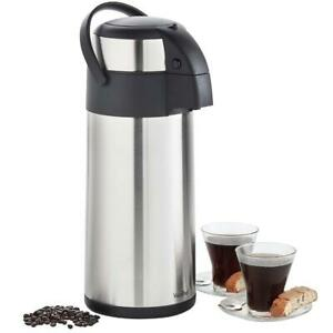 Vonshef Thermal Airpot Carafe Coffee Beverage Dispenser Stainless Steel Large 5l