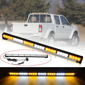 31 28 Led Amber White Emergency Hazard Warning Strobe Traffic Advisor Light Bar