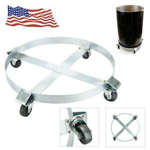 Heavy Duty Drum Dolly 1000 Lbs Caster Swivel Wheels Steel Non Tipping Easy Roll