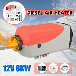 12v 8kw Diesel Air Heater W Control Lcd Thermostat Tank 15l For Car Boat Truck
