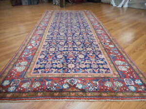 C1930antique Persian Mohajeran Lilihan Mallayer Sarouk 4 9x10 8 Estate Sale Rug