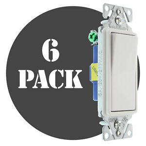 Hubbell Rsd115ilwz Lighted Decorator Switch 1 p 15a 120 277v White 6 pk