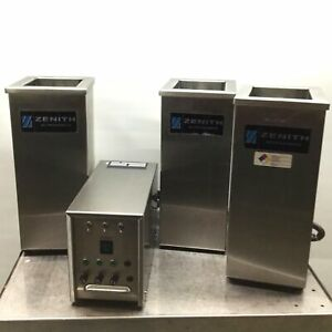 Zenith G3 40 Industrial 3 unit Ultrasonic Parts Cleaner System 40khz 450w 120vac