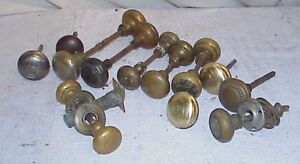 Lot Of Vintage Brass Door Knobs Handles