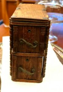 Rare Antique Vtg Arlington Treadle Sewing Machine Cabinet Drawers Storage Box