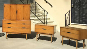 Gorgeous Vintage Thomasville 4 Piece Mid Century Modern Bedroom Set Dresser