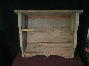 Primitive Country Rustic Handcrafted Reclaimed Barn Wood Large Wall Shelve