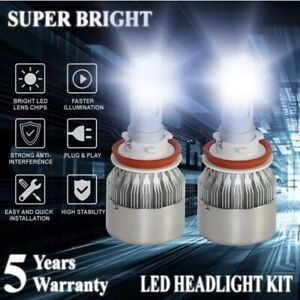C6 H4 9003 Led Car Headlight Kit Hi Lo Turbo Light Bulbs 6000k