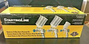 Devilbiss 802789 Startingline Hvlp 3 gun Painting Priming Touch Up Kit