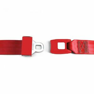 2 Pt Red Lap Seat Belt Standard Buckle Each Stbsb2lsrd Hot Street Rod