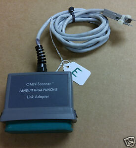 lote Omniscanner Microtest Panduit Giga punch B Link Adapter please Read