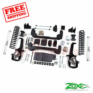 Zone Offroad 4 Lift Kit For 2012 Ram 1500 4wd 3 Rear Coil Springs Nitro Shock