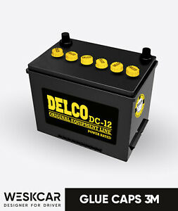 Delco Energizer Battery Dc 12 Caps Kit