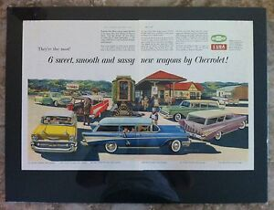 1957 Chevrolet Nomad Station Wagon Gm Ready To Display Belair Car Ad Gift 1956