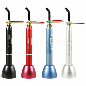 4 Color Dental Cordless Curing Light Led Lamp 10w 1800mw Resin Cure Solidify D2