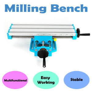Milling Bench Machine Work Table X Y Axis Cross Sliding Bench Drill Vise Fixture