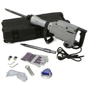 2200w Electric Hammer 1900rpm Concrete Breaker Chisels Silver With Case