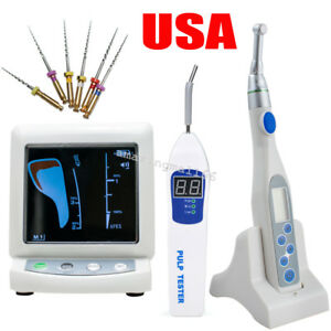 Us Color Dental Apex Locator Root Canal Endo Motor 16 1 Contra Angle Pulp Tester