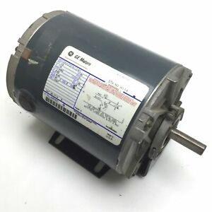 Ge 5kh35fn124h Ac Motor Voltage 115v 60hz 1 phase Power 1 3 Hp Frame 48