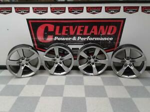 2010 2012 Camaro Ss Oem 5 Spoke 4 Wheels 20 Q9k R3z Staggered Set Curb Rash