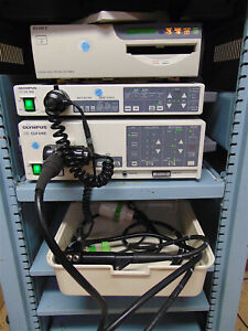 Olympus Evis Cv 100 Video System Clv u40 Light Source Pcf 140l Endoscope Sr520