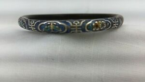 1930 S Chinese 8 Gram Gilt Sterling Silver And Bamboo Carved Bracelet Bangle