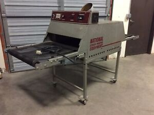 National N2408 Screen Printing Conveyor Belt Dryer 1 phase 30a 220v 24 X 96