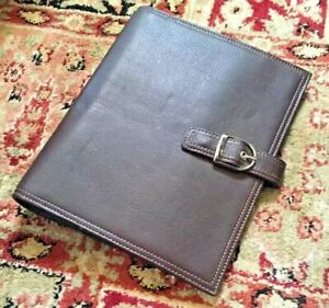 New 7 Rings Planner Brown Leather Day timer Binder Franklin 99