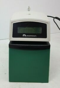 Used Acroprint 01 6000 001 Etc Digital Display Time Card Stamp Punch Recorder