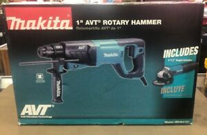 Makita hr2641x1 1 Avt Rotary Hammer Drill With Angle Grinder Kit free S