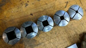Lot Of 5 Cnc Lathe 16c Square Collets For Collet Chuck