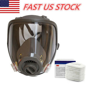 Full Face Facepiece Respirator Gas Mask For 3m 6800 Dust Paint Spraying Filter
