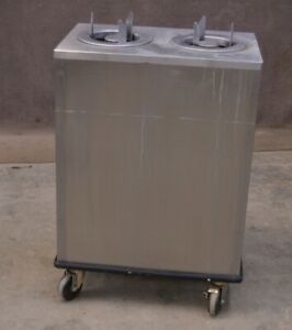 Lakeside Stainless Steel Dual Small Plate Dish Dispenser 6 5 Holding Cabinet
