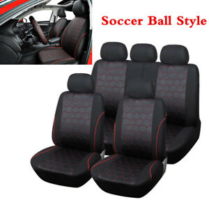 Full Set Soccer Ball Style Vehicle Car Interior Accessories Seat Cover For 5 sit