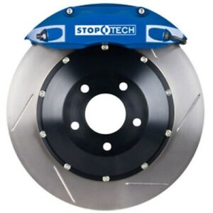 Stoptech 83 843470021 Front Big Brake Kit 355mm X 32mm 2 Piece Slotted Rotors Bl