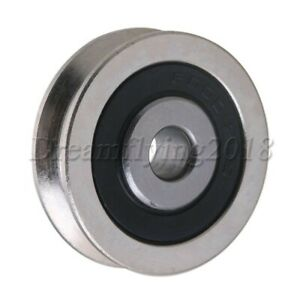 6x30x8mm U groove Sealed Wire Track Guide Steel Pulley Ball Bearing 355kg