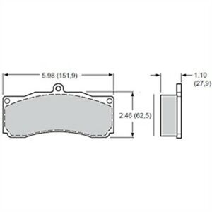 Wilwood 15a 6015k Polymatrix A Brake Pads Calipers Ap Alcon Thickness 1 10