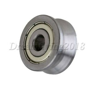 10x30x14mm Steel V Groove Ball Bearing Sealed Wire Track Guide Pulley Wheel