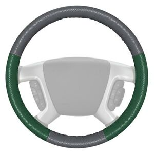 Wheelskins Europerf Perforated Gray Steering Wheel Cover W Green Sides Color