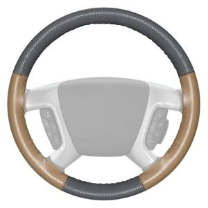 Wheelskins Europerf Perforated Gray Steering Wheel Cover W Sand Sides Color