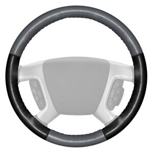 Wheelskins Eurotone Two color Gray Steering Wheel Cover W Black Sides Color