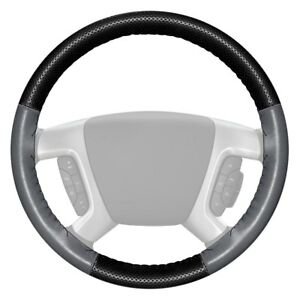 Wheelskins Europerf Perforated Black Steering Wheel Cover W Gray Sides Color