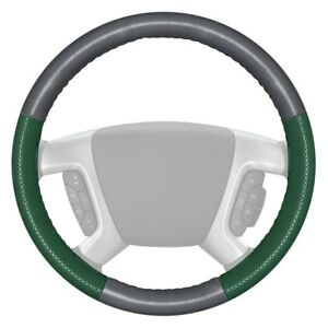 For Chevy Camaro 17 18 Steering Wheel Cover Europerf Perforated Gray Steering