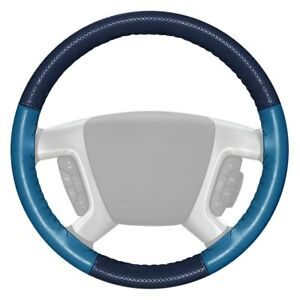 For Ford Fusion 09 12 Steering Wheel Cover Europerf Perforated Blue Steering