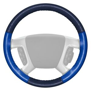 For Dodge Charger 14 16 Steering Wheel Cover Europerf Perforated Blue Steering