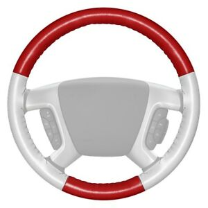 For Ford F 150 14 15 Steering Wheel Cover Eurotone Two color Red Steering Wheel