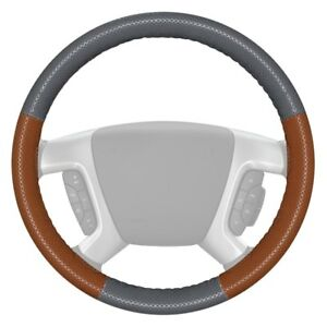 Wheelskins Europerf Perforated Gray Steering Wheel Cover W Tan Sides Color