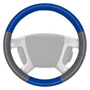 Wheelskins Europerf Perforated Cobalt Steering Wheel Cover W Gray Sides Color