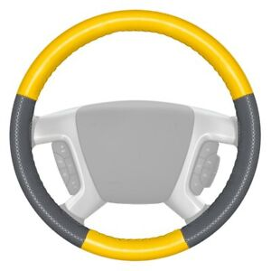 Wheelskins Europerf Perforated Yellow Steering Wheel Cover W Gray Sides Color