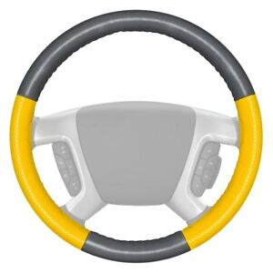 Wheelskins Europerf Perforated Gray Steering Wheel Cover W Yellow Sides Color